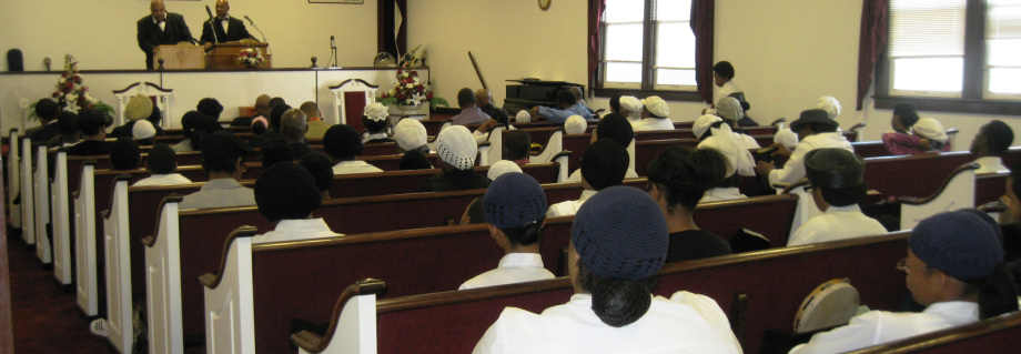 congregation in service
